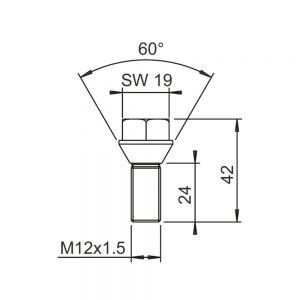 גוז'ון אלקו M12X1.5X24