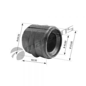 בוקסה למייצב דאף Mansons 60.5×43 CF XF