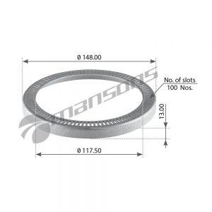 טבעת ABS דאף Mansons 148×117.5×13 CF XF