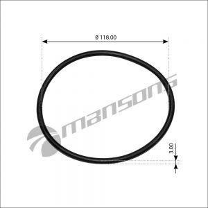 גומיה למכסה טבור XF דאף Mansons 118×3