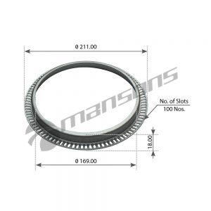 טבעת ABS דאף LF CF XF שיניים Mansons 211x169x18