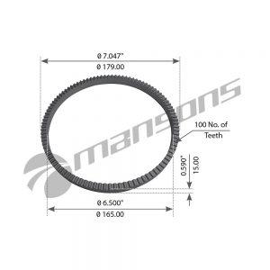 טבעת ABS לנבה Mansons 165×179 ROR